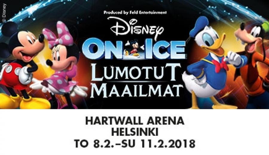 Disney on ice Lumotut Maailmat Hartwall Arenalla 1