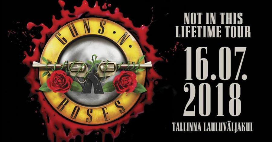 GUNS N' ROSES Tallinnan laululavalla (2pv.) 1